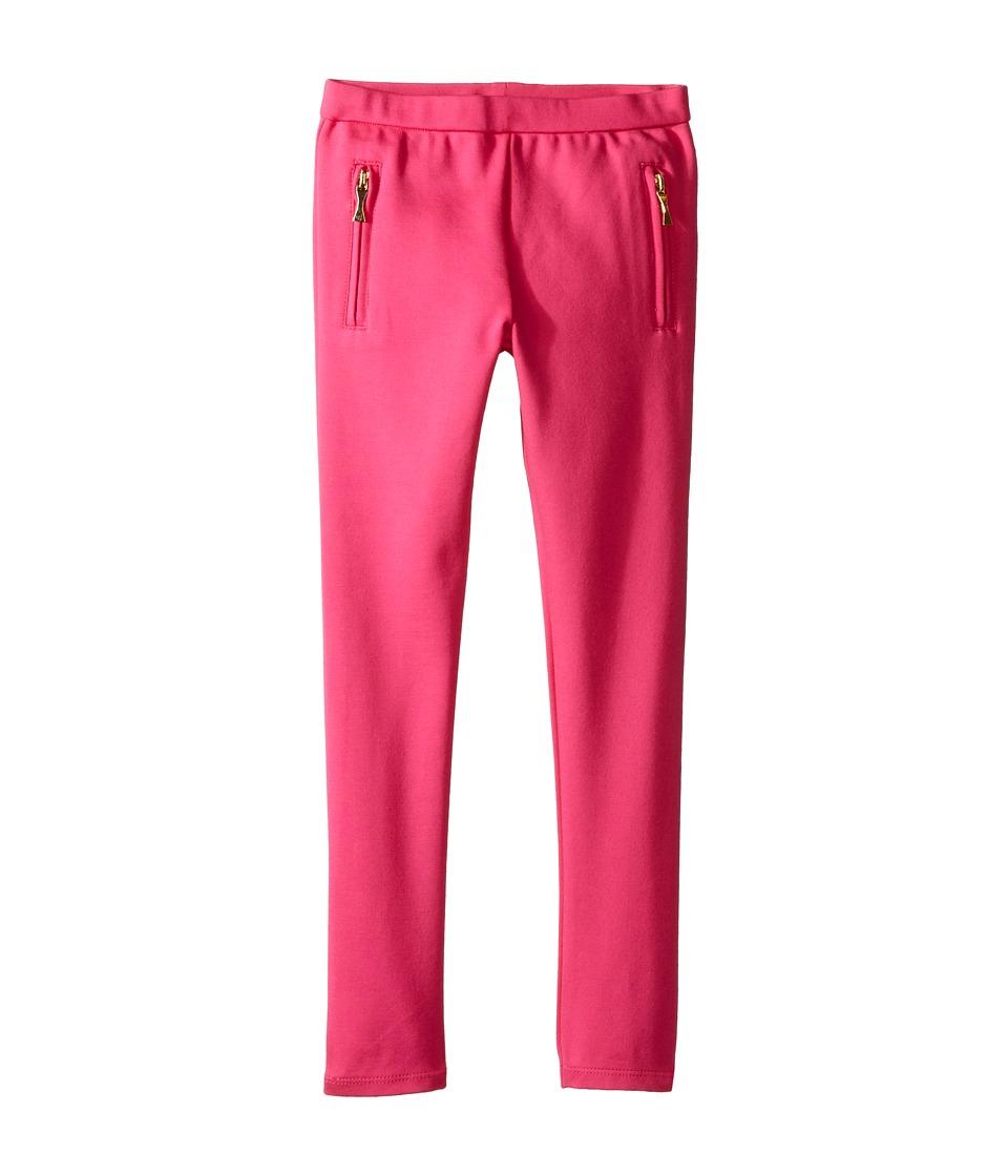 Kate Spade New York Kids - Zipper Leggings (Toddler/Little Kids) (Carbaret Pink) Girl's Casual Pants