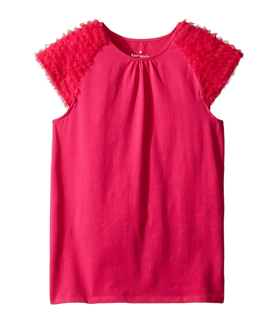 Kate Spade New York Kids - Ruffle Tee (Little Kids/Big Kids) (Cabaret Pink) Girl's T Shirt