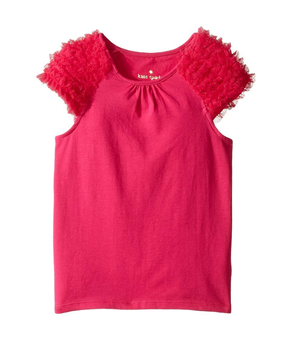 Kate Spade New York Kids - Ruffle Tee (Toddler/Little Kids) (Cabaret Pink) Girl's T Shirt