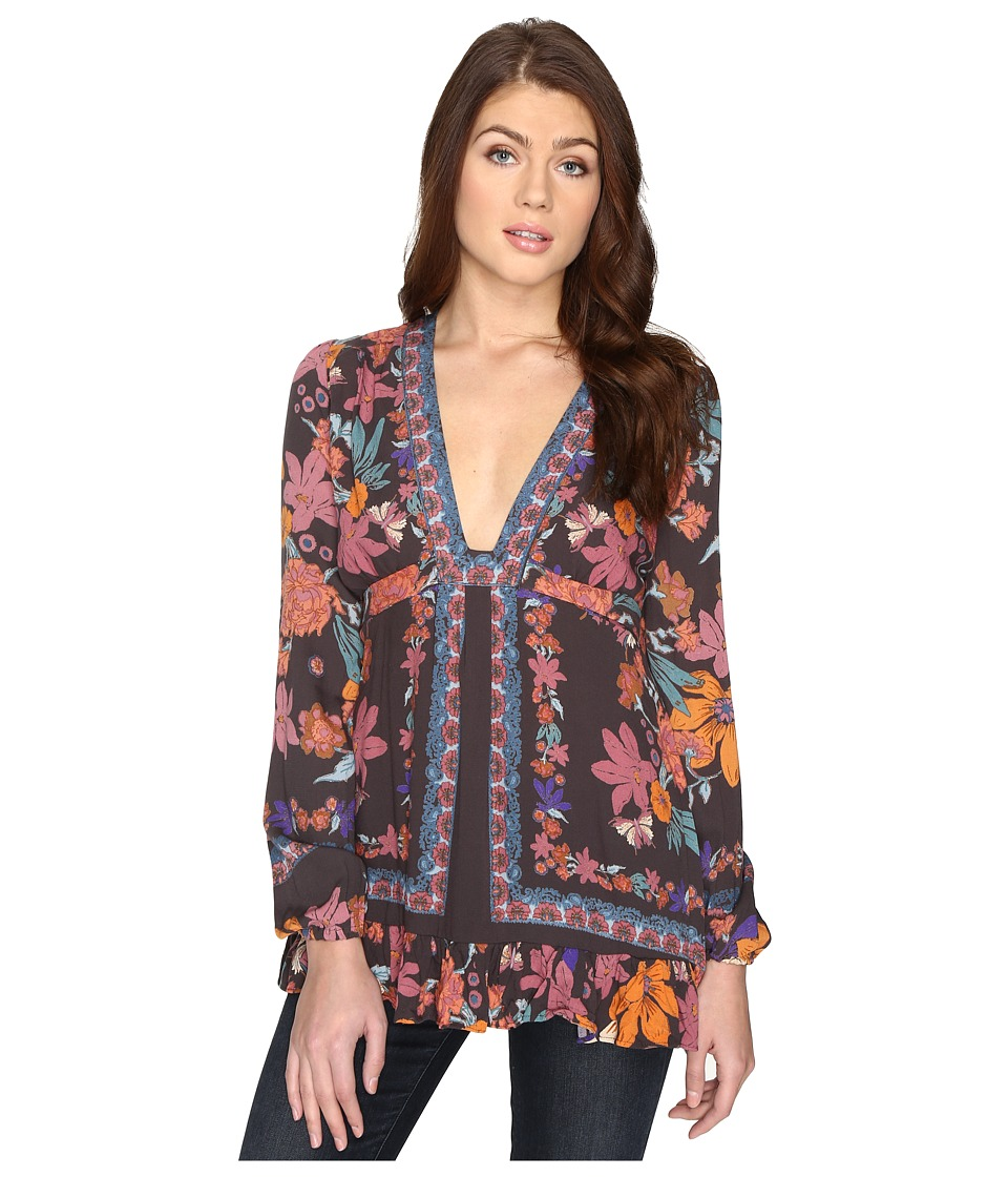 Free People - Violet Hill Printed Tunic (Black) Women's Clothing