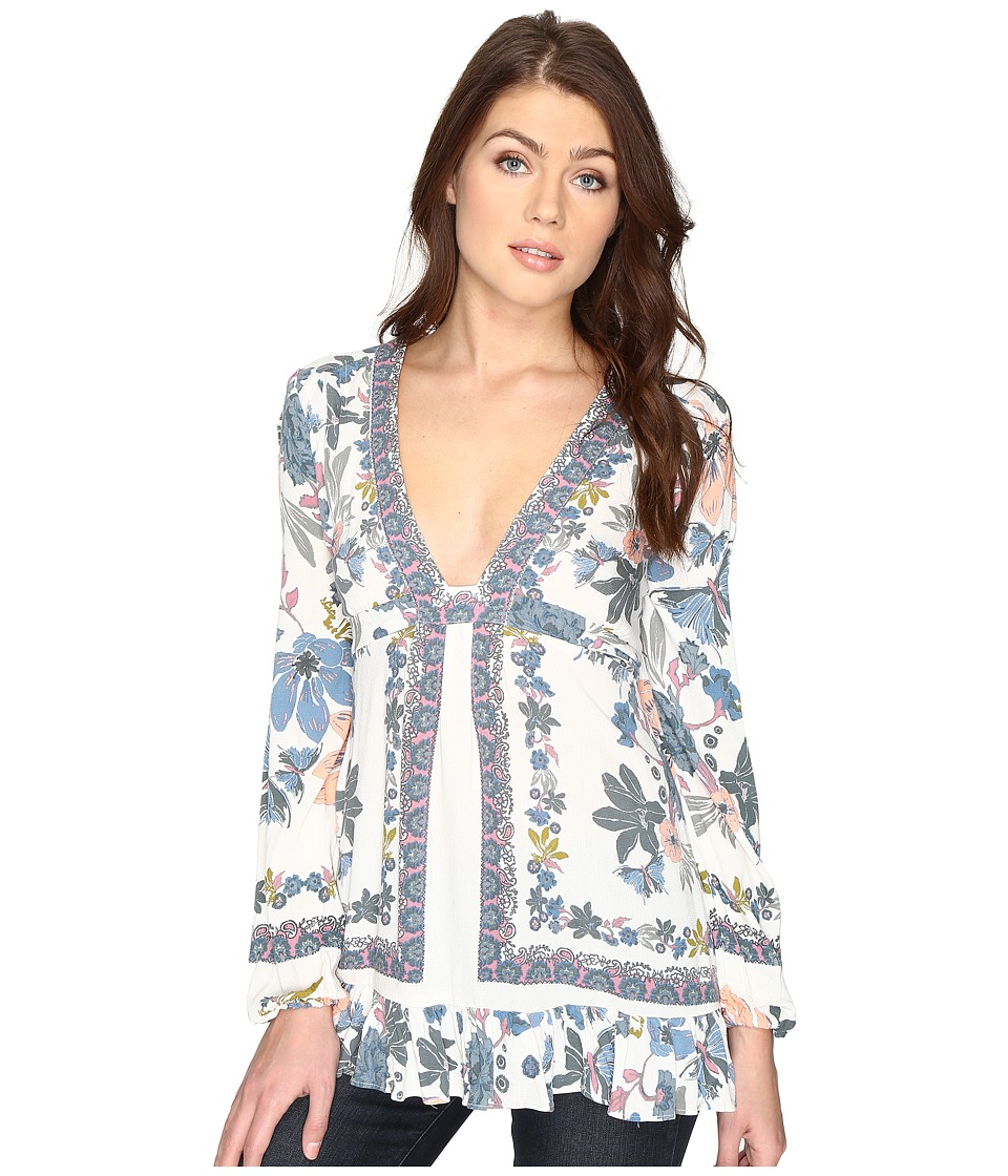 Free People - Violet Hill Printed Tunic (Ivory) Women's Clothing