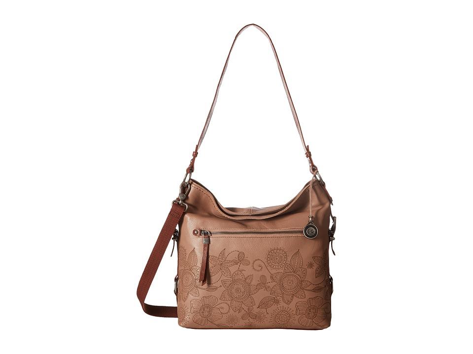 The Sak - Sanibel Bucket (Mocha Floral) Satchel Handbags