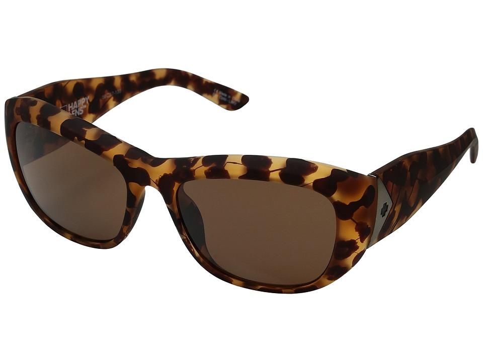 Spy Optic - Belle (Soft Matte Camo Tortoise/Happy Bronze) Fashion Sunglasses