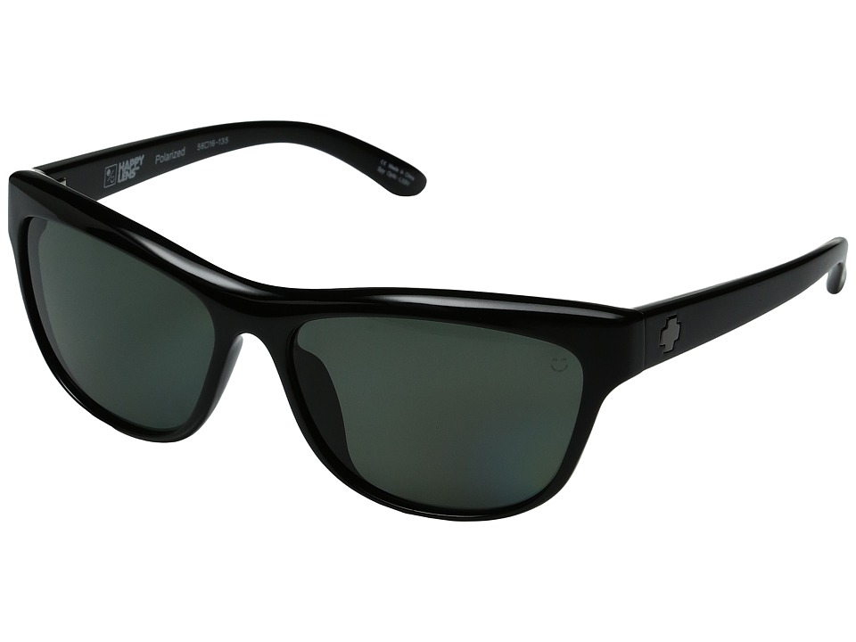 Spy Optic - Lynx (Black/Happy Grey Green Polarized) Fashion Sunglasses