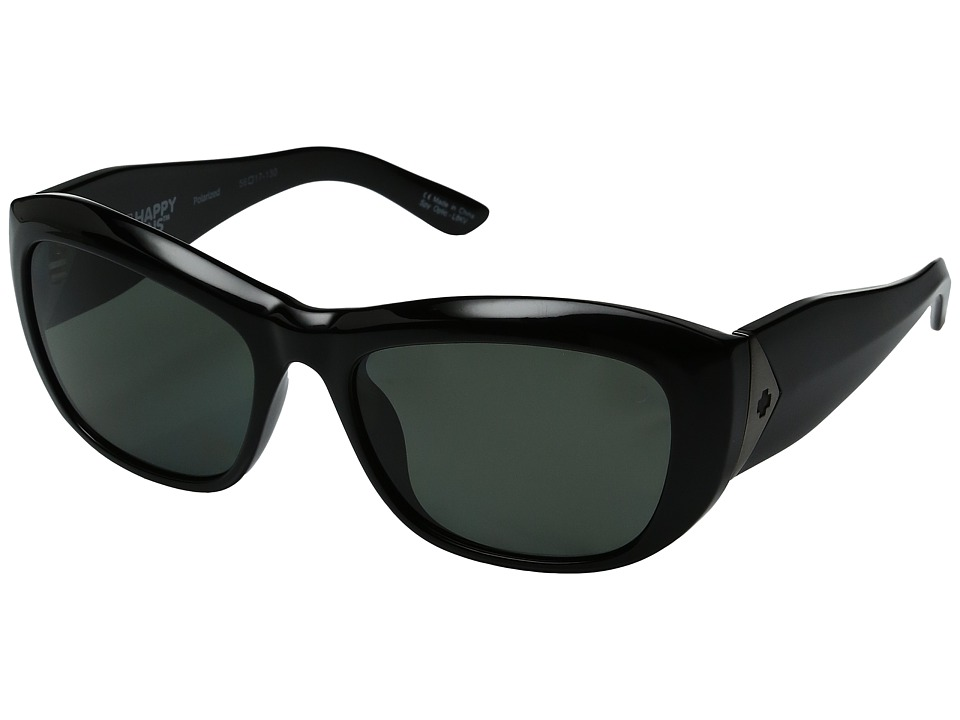 Spy Optic - Belle (Black/Happy Gray Green Polarized) Fashion Sunglasses