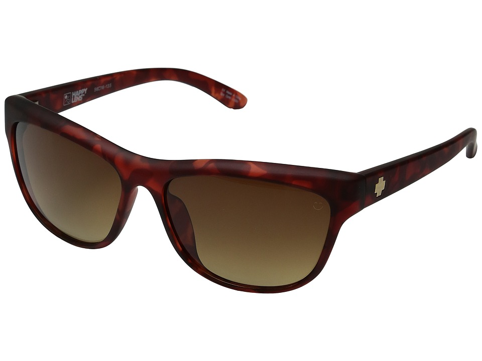 Spy Optic - Lynx (Soft Matte Red Tortoise/Happy Bronze Fade) Fashion Sunglasses