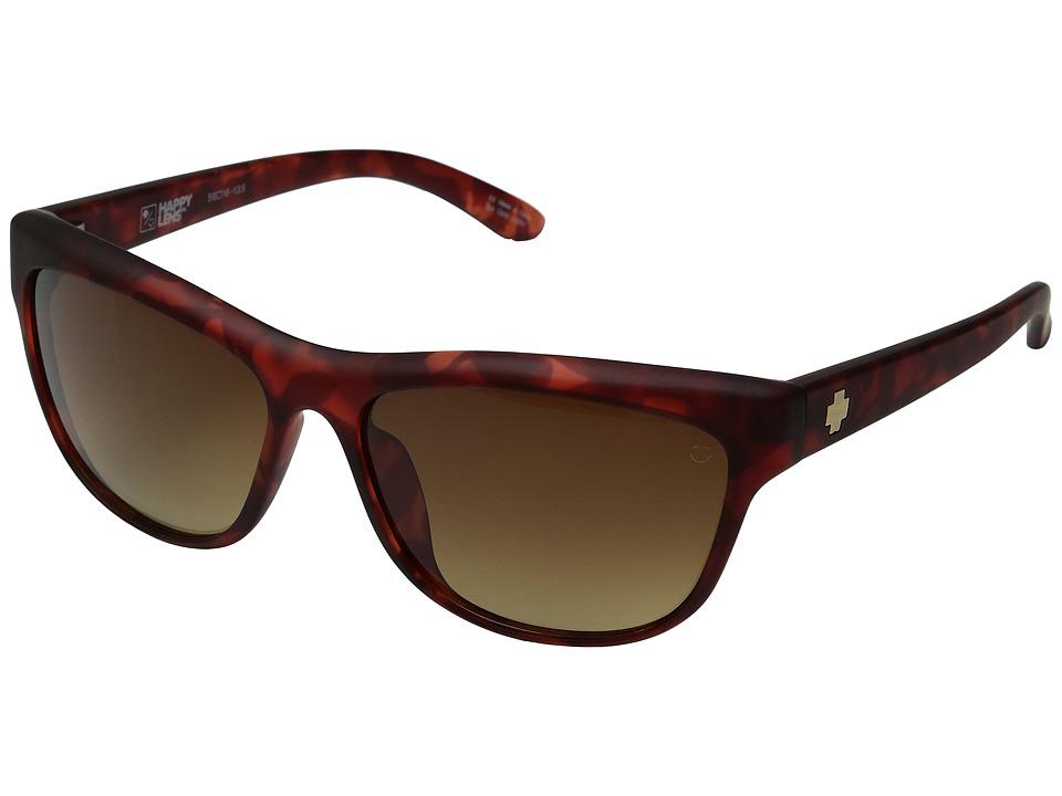 Spy Optic - Lynx (Soft Matte Red Tortoise/Happy Bronze Fade) Fashion Sunglasses
