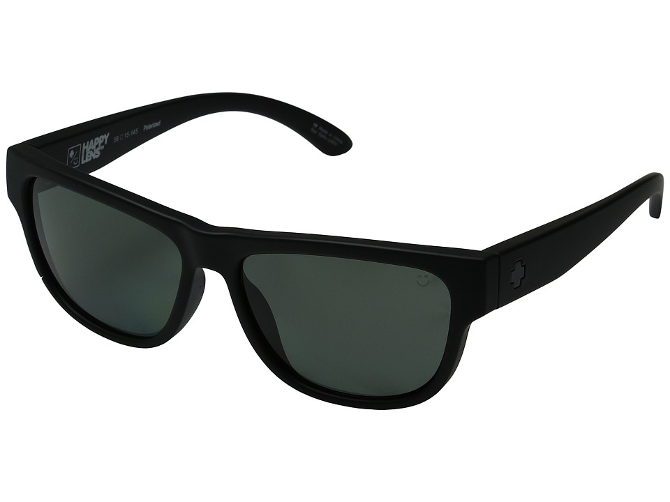 Spy Optic - Hendrix (Soft Matte Black/Happy Gray Green Polarized) Fashion Sunglasses