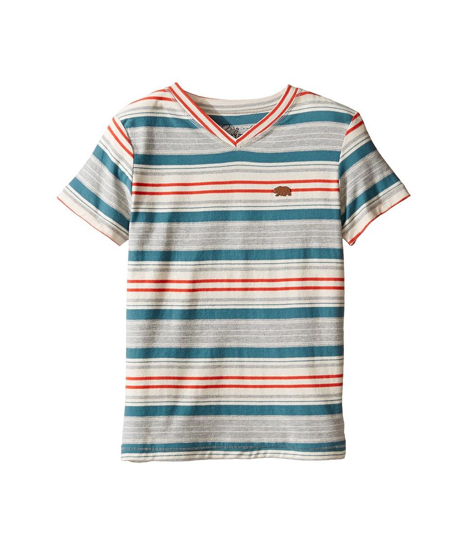 Lucky Brand Kids - V-Neck Striped T-Shirt (Little Kids/Big Kids) (Heather Light) Boy's T Shirt