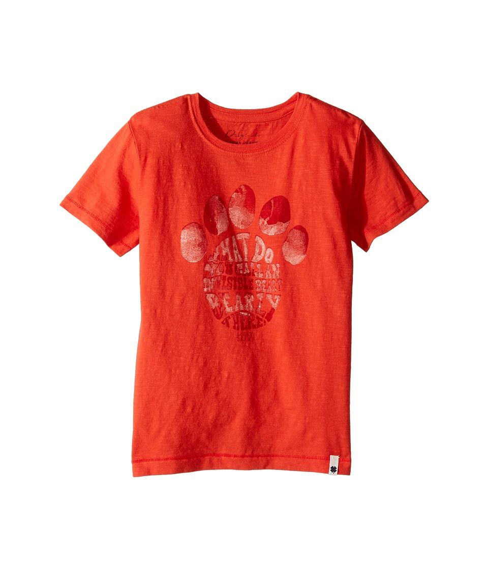 Lucky Brand Kids - Paw Print Tee (Little Kids/Big Kids) (Red Clay) Boy's T Shirt