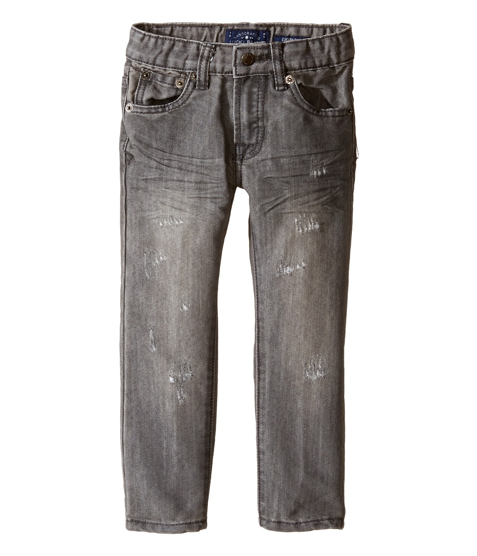 Lucky Brand Kids - Five-Pocket Jeans w/ Patches in Griffin (Toddler) (Griffin) Boy's Jeans