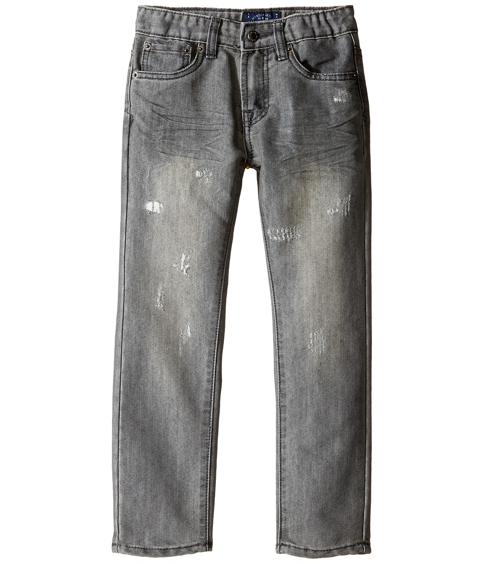 Lucky Brand Kids - Five-Pocket Jeans w/ Patches in Griffin (Little Kids/Big Kids) (Griffin) Boy's Jeans