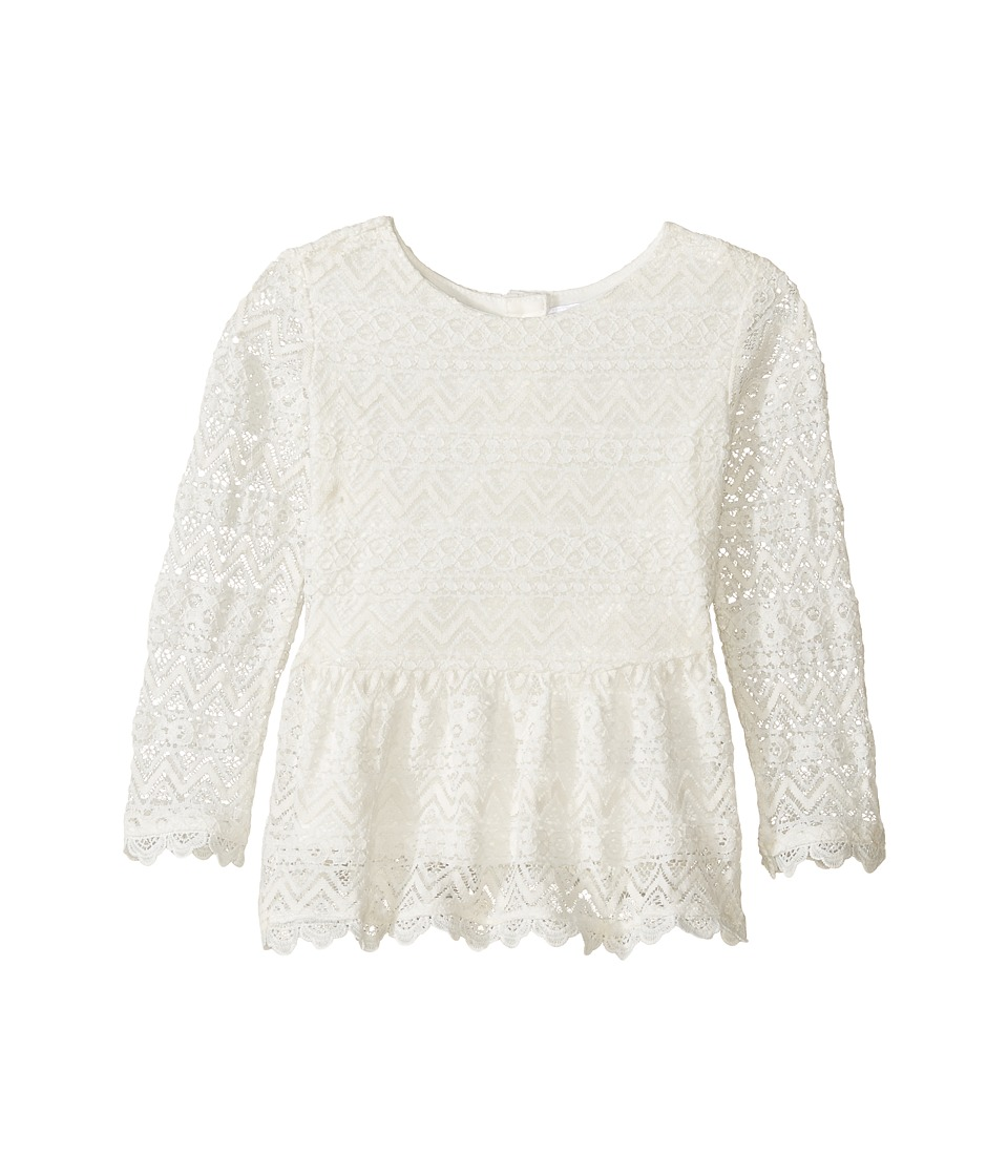 Kardashian Kids - Lace Peplum Top (Infant) (Ivory) Girl's Clothing