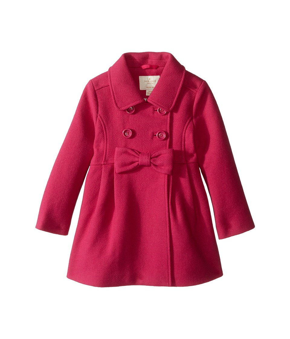 Kate Spade New York Kids - Fit Flare Coat (Toddler/Little Kids) (Cabaret Pink) Girl's Coat