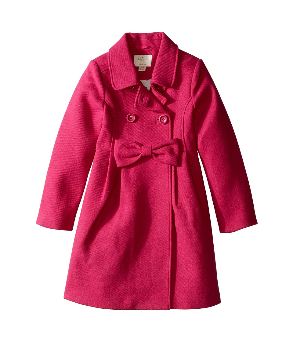 Kate Spade New York Kids - Fit Flare Coat (Little Kids/Big Kids) (Cabaret Pink) Girl's Coat