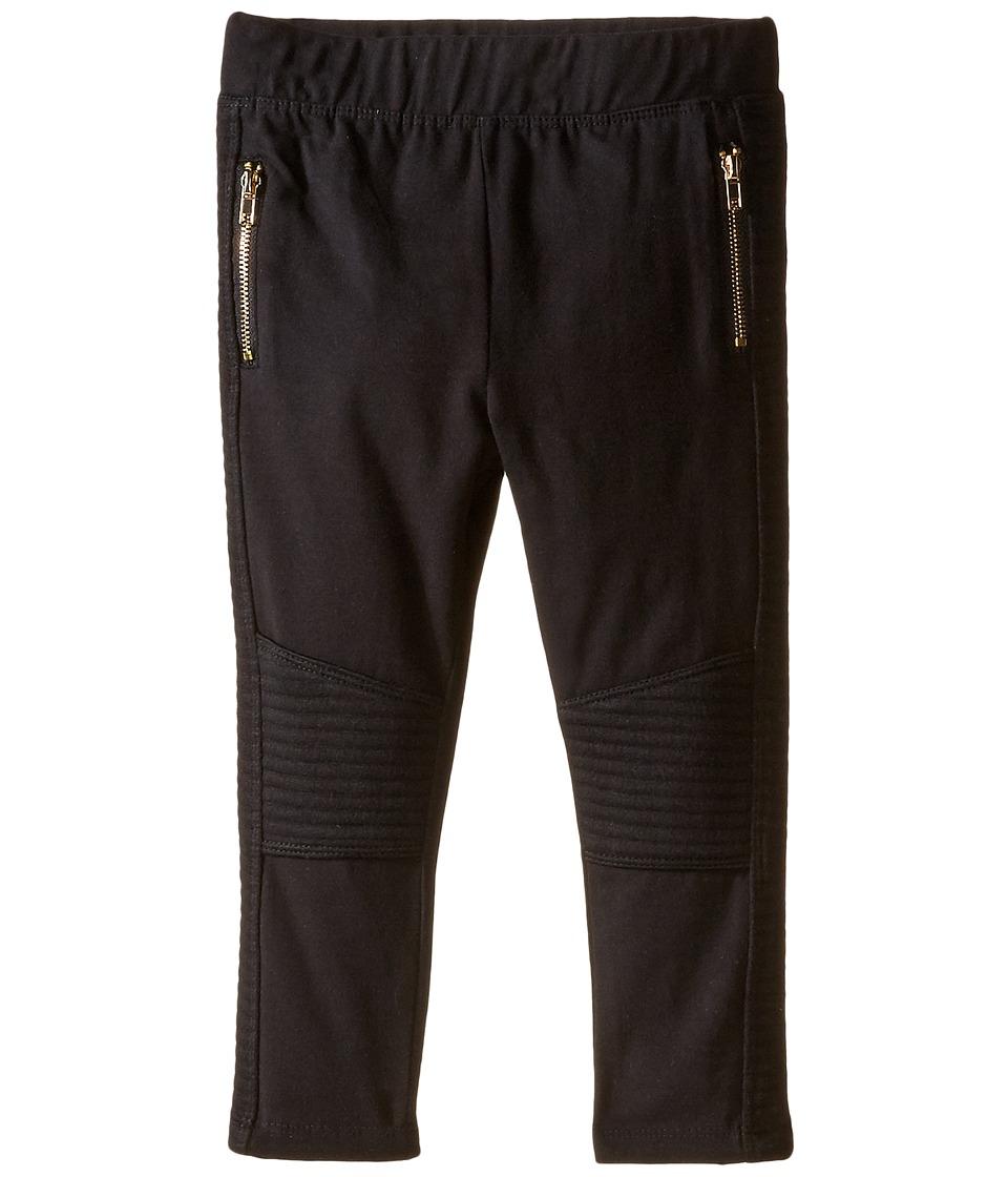 Kardashian Kids - Rib Panel Pants (Infant) (Black) Girl's Casual Pants