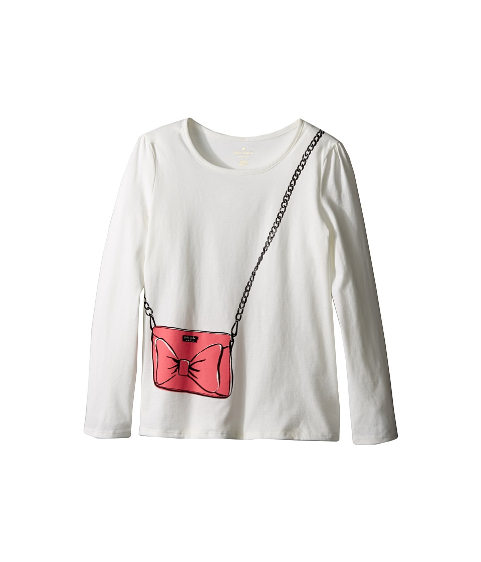 Kate Spade New York Kids - Trompe L'oeil Tee (Little Kids/Big Kids) (Fresh White) Girl's T Shirt