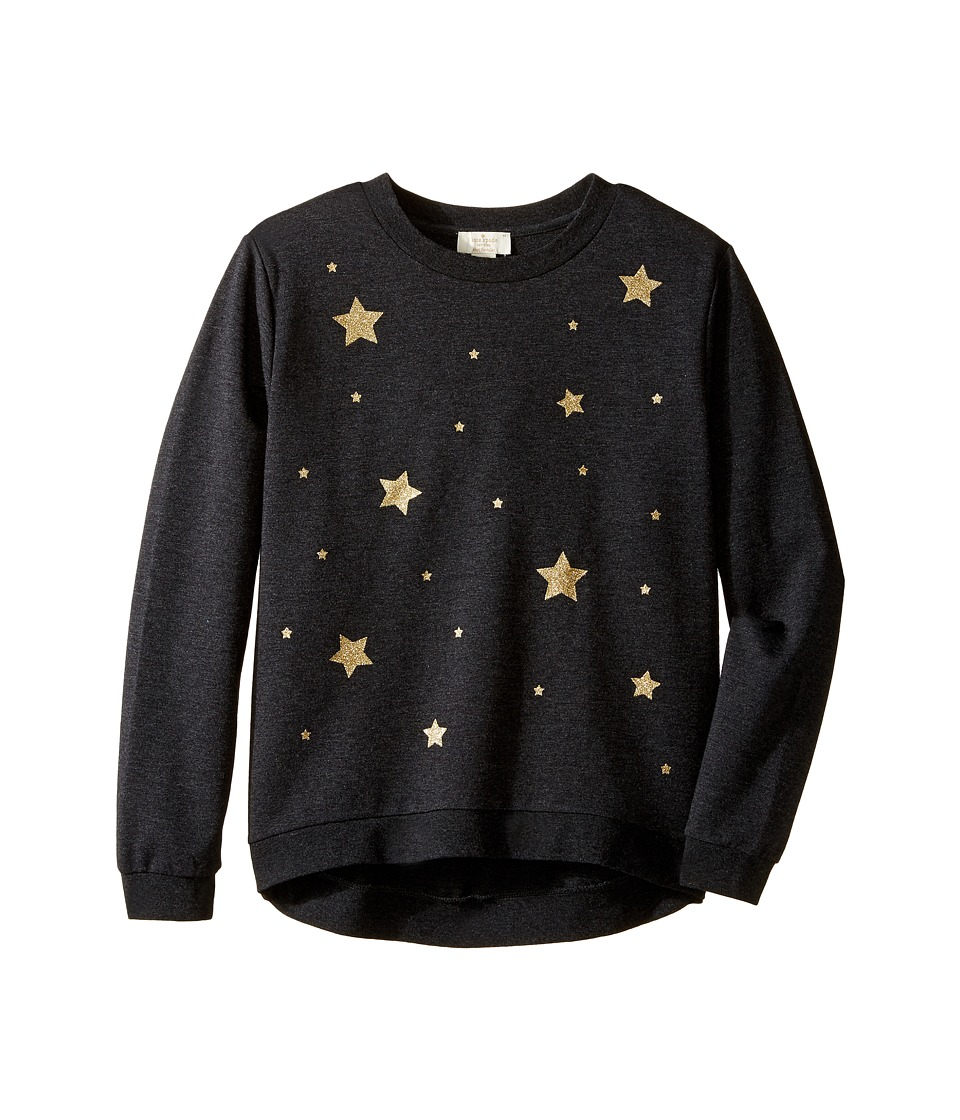 Kate Spade New York Kids - Star Sweatshirt (Little Kids/Big Kids) (Charcoal Heather) Girl's Sweatshirt