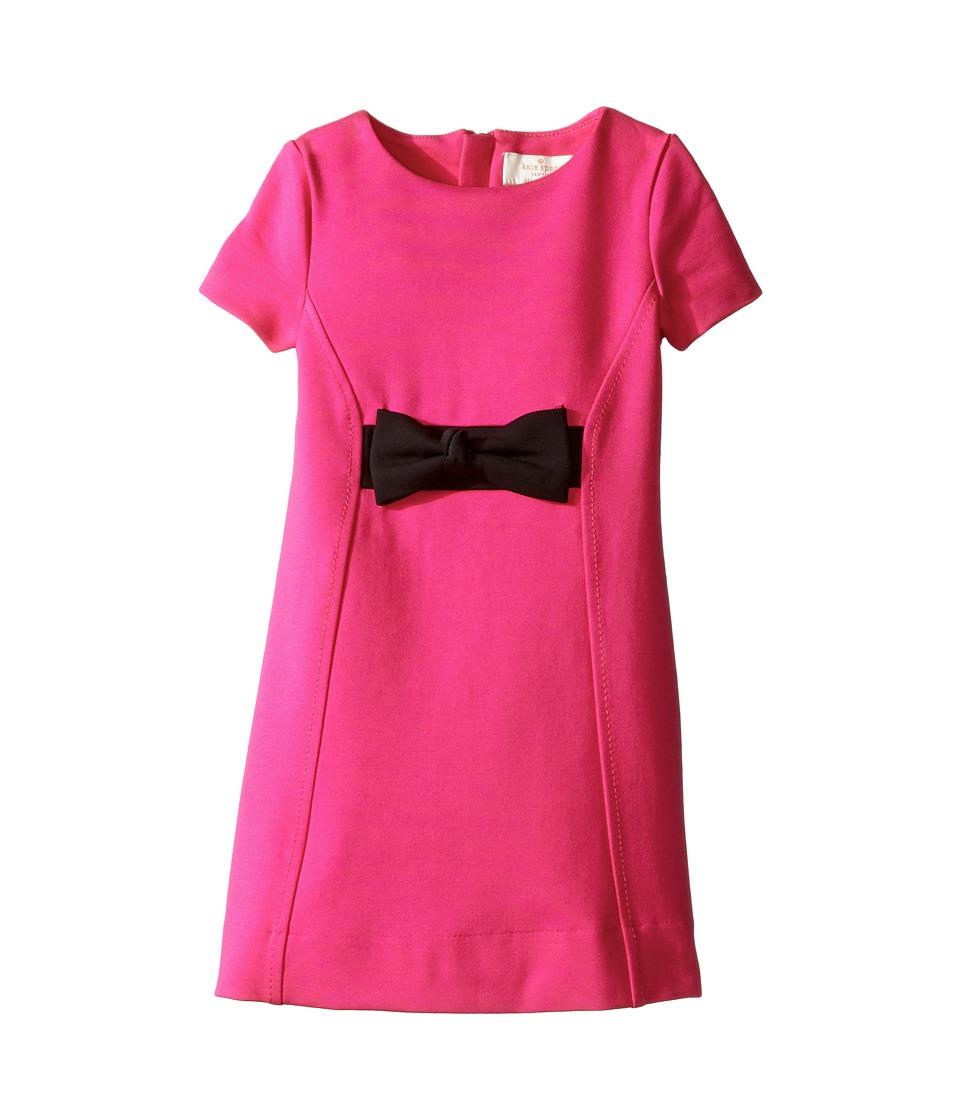 Kate Spade New York Kids - Ponte Bow Dress (Toddler/Little Kids) (Cabaret Pink) Girl's Dress