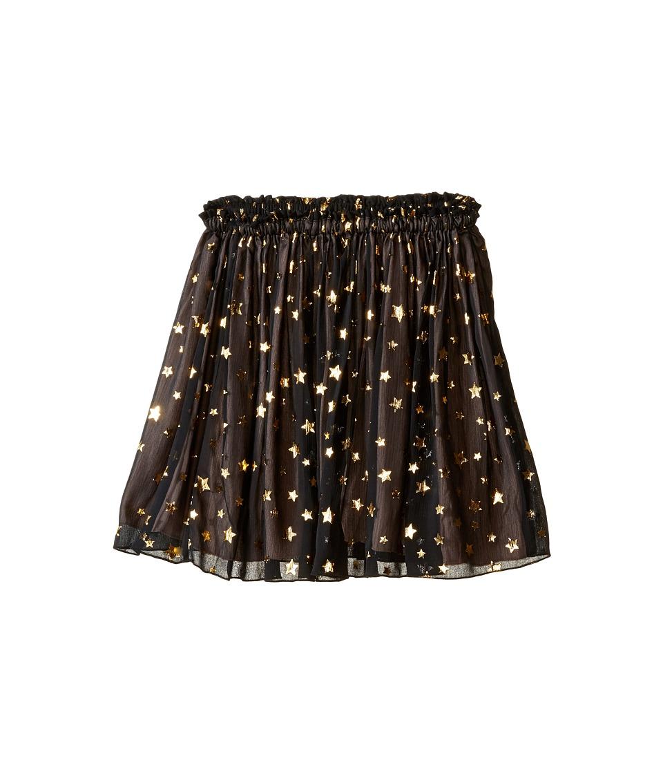 Kate Spade New York Kids - Scattered Star Skirt (Big Kids) (Black/Gold) Girl's Skirt