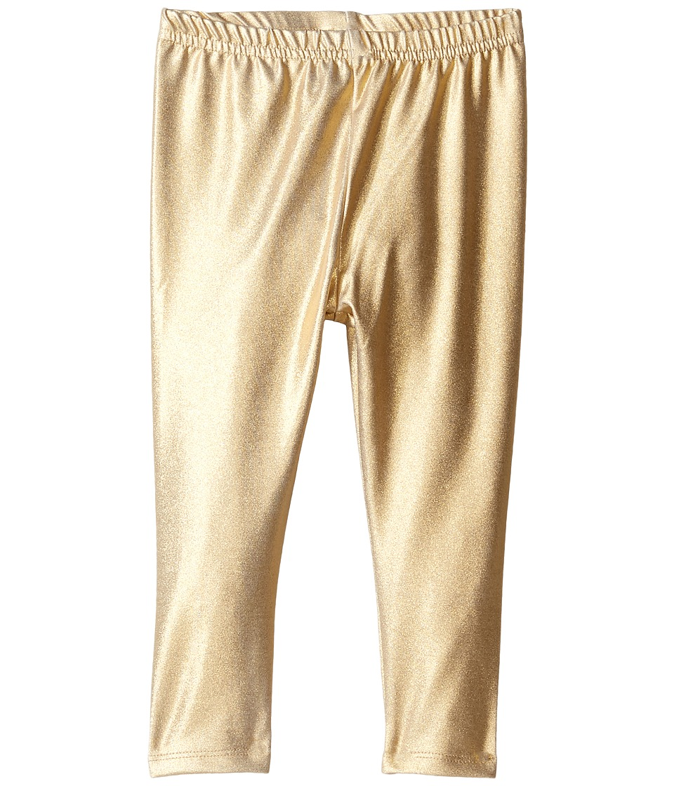 Kardashian Kids - High Waisted Metallic Leggings (Infant) (Gold) Girl's Casual Pants