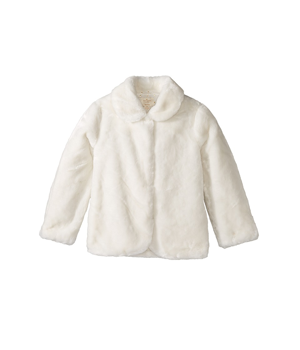 Kate Spade New York Kids - Faux Fur Jacket (Little Kids/Big Kids) (Cream) Girl's Coat