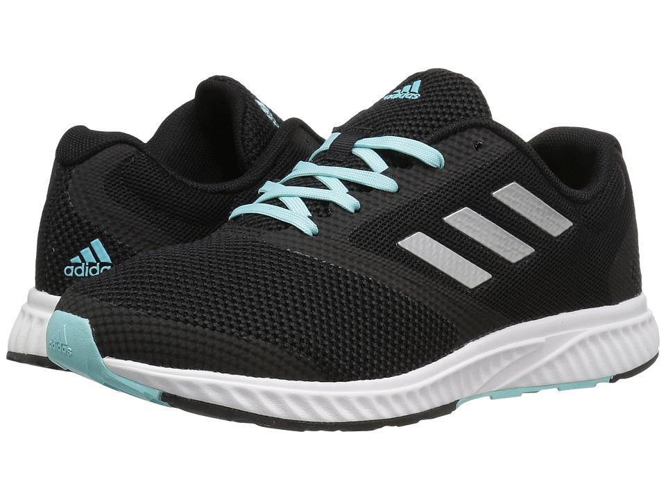 adidas - Mana Racer (Core Black/Silver Metallic/Clear Aqua) Women's Running Shoes