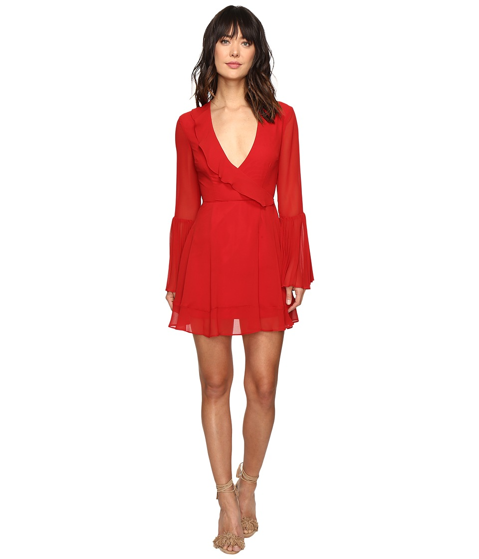 KEEPSAKE THE LABEL Seasons Long Sleeve Mini Dress (Scarlet Red) Women