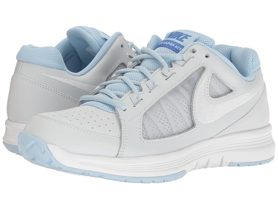 Nike - Air Vapor Ace (Pure Platinum/White/Ice Blue/Comet Blue) Women's Tennis Shoes