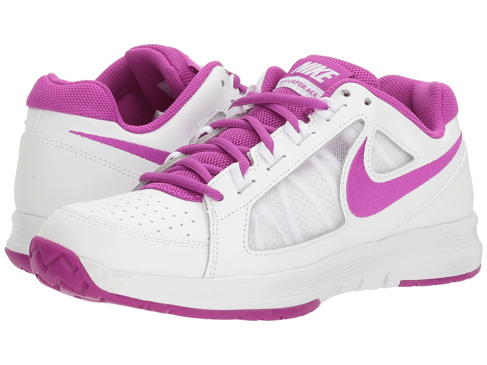 Nike - Air Vapor Ace (White/Vivid Purple) Women's Tennis Shoes