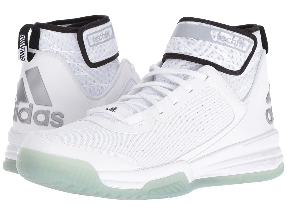 adidas - Dual Threat BB (White/Black/White) Men's Shoes