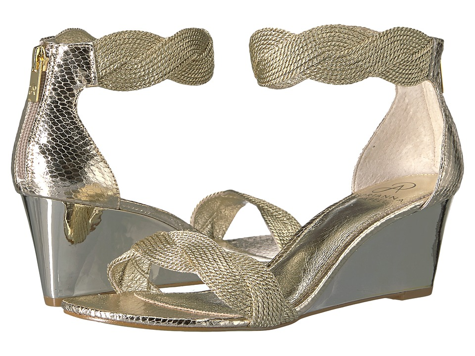 Adrianna Papell - Adelaide (Platinum Metallic Rope) Women's Wedge Shoes