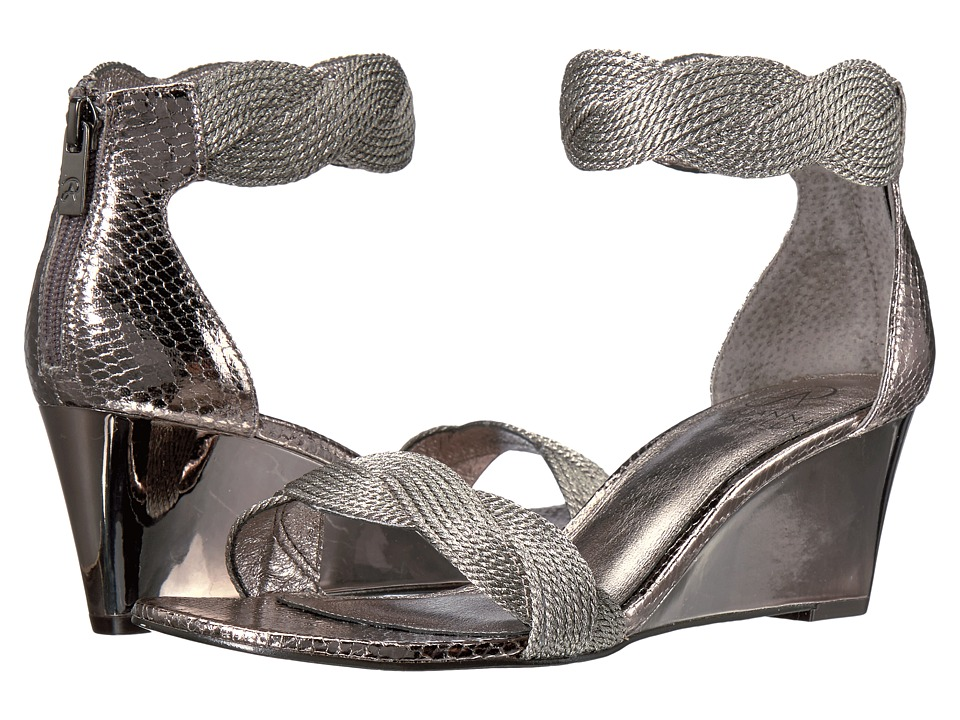 Adrianna Papell - Adelaide (Gunmetal Metallic Rope) Women's Wedge Shoes