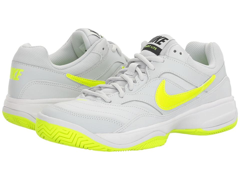 Nike - Court Lite (Pure Platinum/Volt/Black/Volt) Women's Tennis Shoes