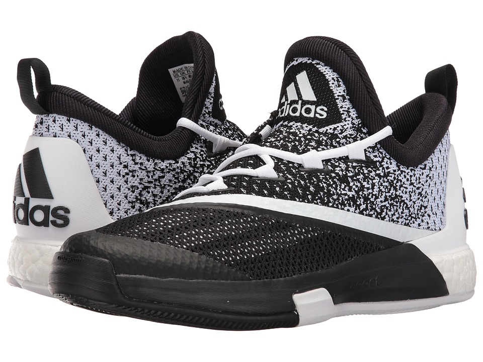 adidas - SM On Court Crazylight Boost 2 (Black/White/Black) Men's Shoes