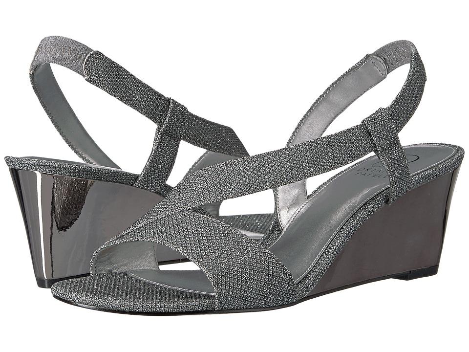 Adrianna Papell - Taryn (Gunmetal Jimmy Net) Women's Wedge Shoes