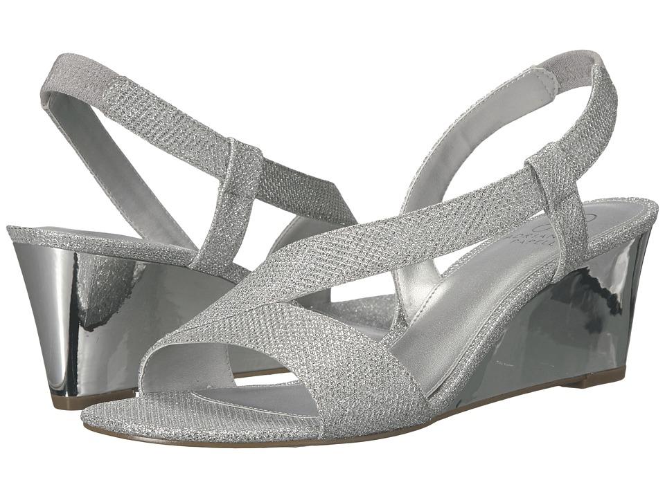 Adrianna Papell - Taryn (Silver Jimmy Net) Women's Wedge Shoes