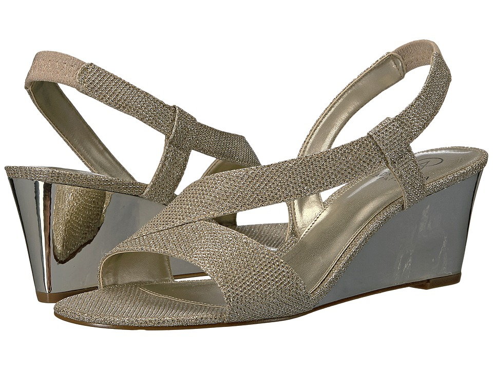 Adrianna Papell - Taryn (Gold Jimmy Net) Women's Wedge Shoes
