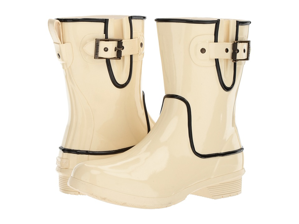 Chooka - Classic Mid Fine Line (Ivory High Gloss) Women's Rain Boots