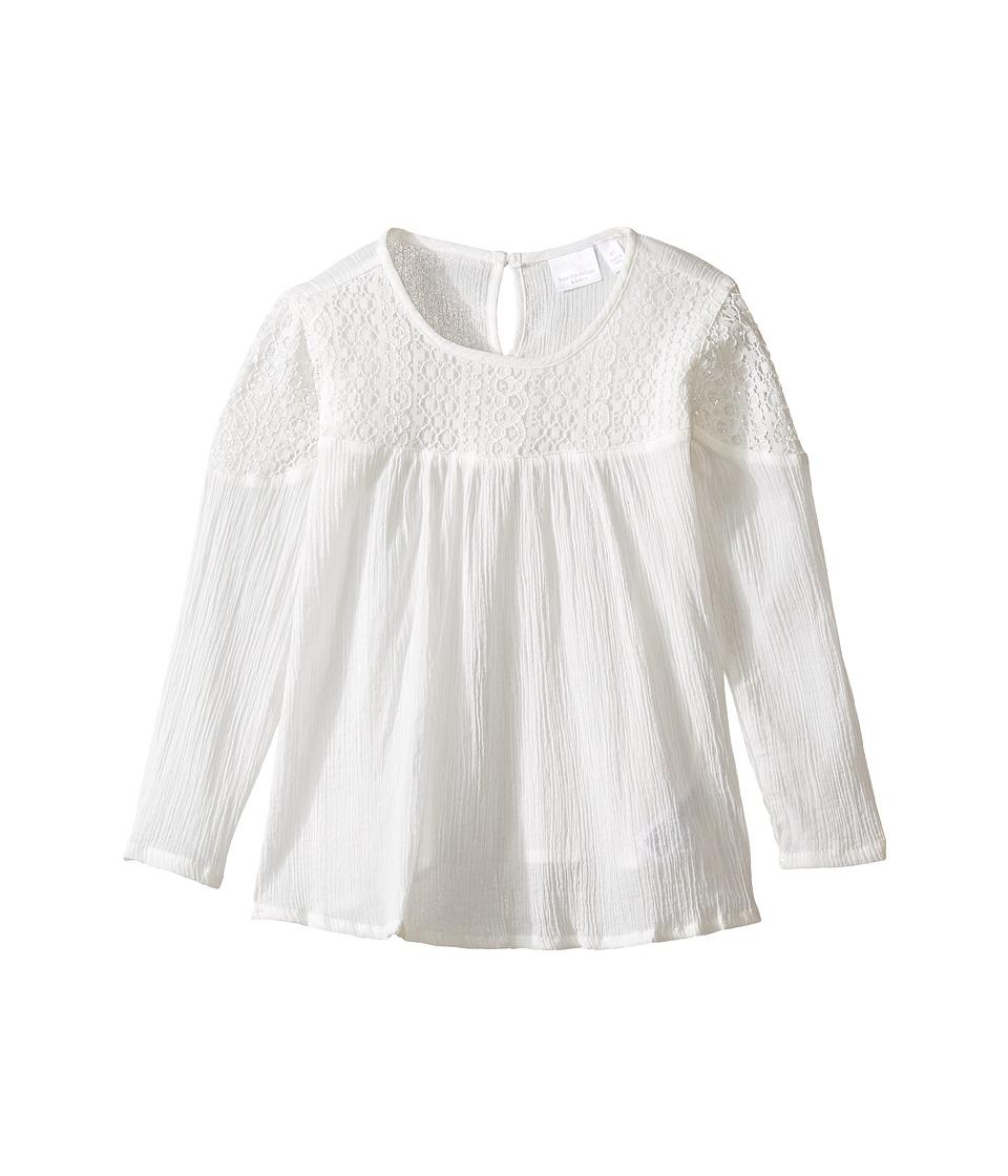 Kardashian Kids - Lace Yoke Cotton Top (Toddler/Little Kids) (Ivory) Girl's Clothing