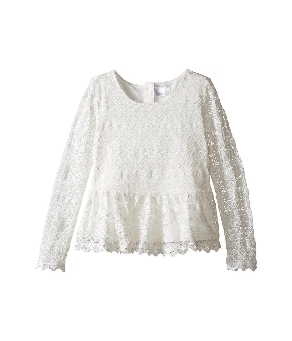 Kardashian Kids - Lace Peplum Top (Toddler/Little Kids) (Ivory) Girl's Clothing