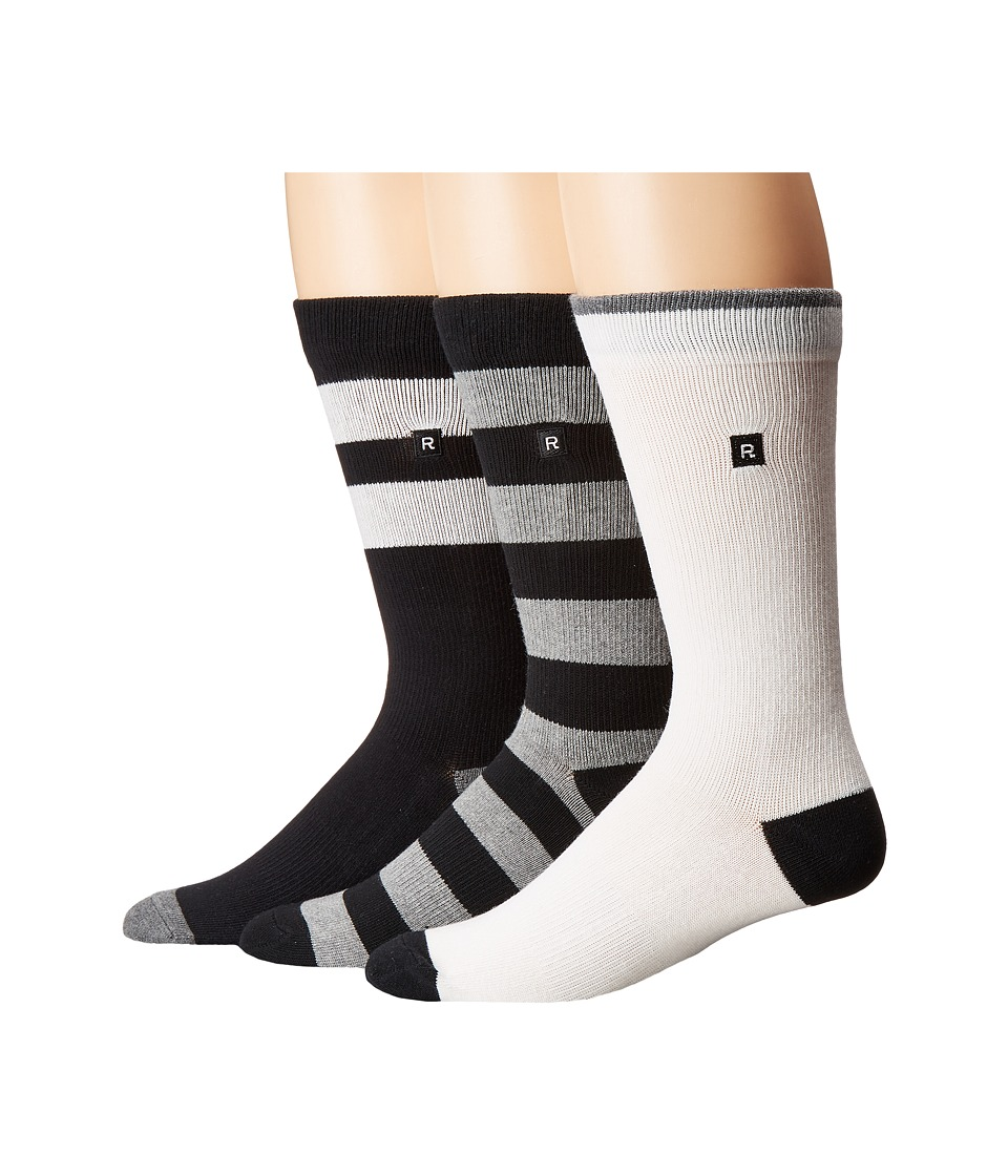 Richer Poorer - Basic (Black/Black/Charcoal/White) Men's Crew Cut Socks Shoes