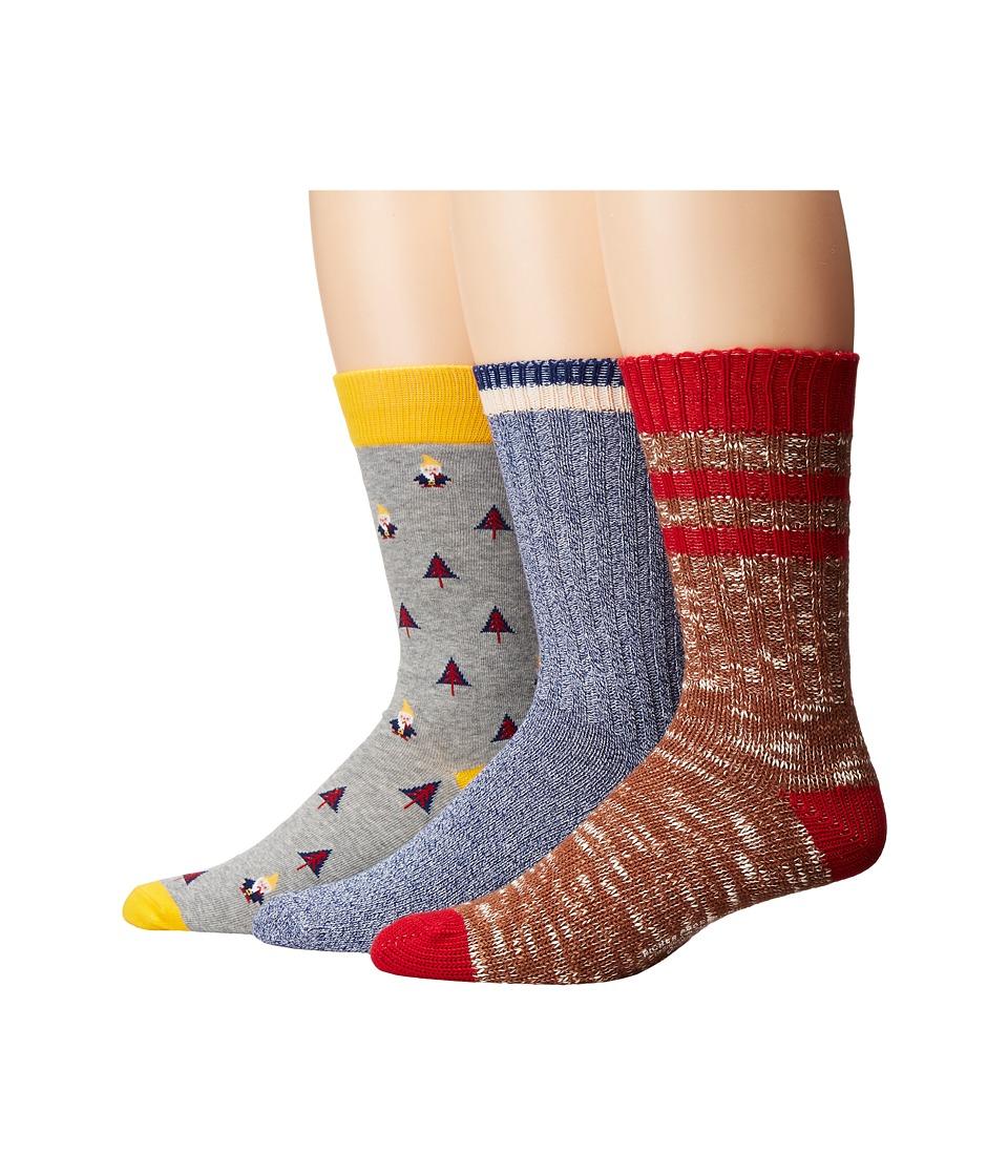Richer Poorer - Holiday (Brown/Heather Grey/Navy) Men's Crew Cut Socks Shoes