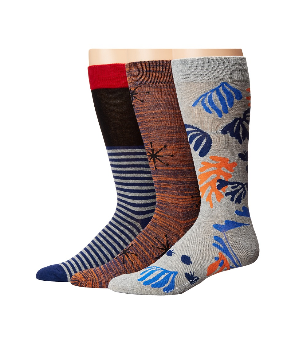 Richer Poorer - Crew (Red/Black/Orange/Heather Grey) Men's Crew Cut Socks Shoes