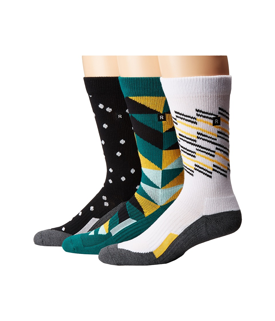 Richer Poorer - Compression (Green/White/Black) Men's Crew Cut Socks Shoes