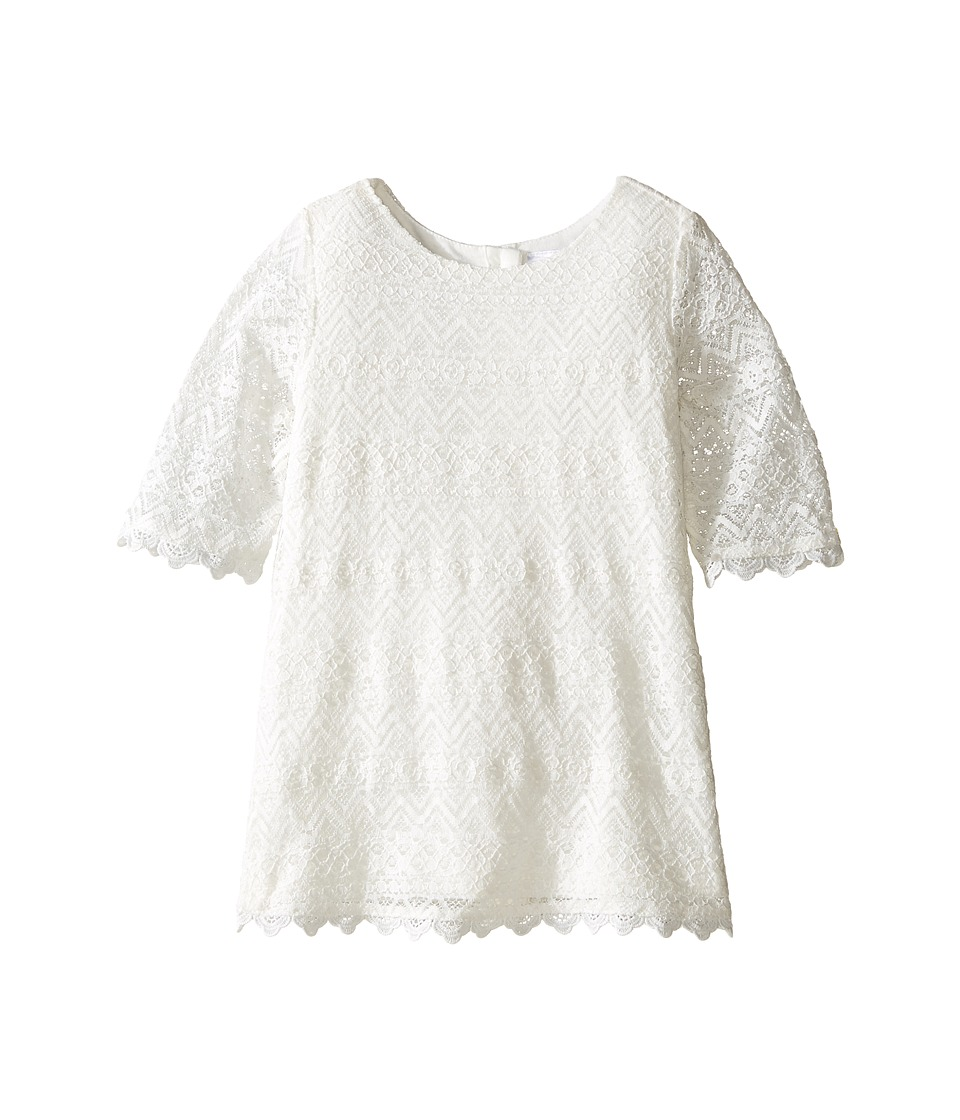 Kardashian Kids - Lace Dress (Toddler/Little Kids) (Ivory) Girl's Dress