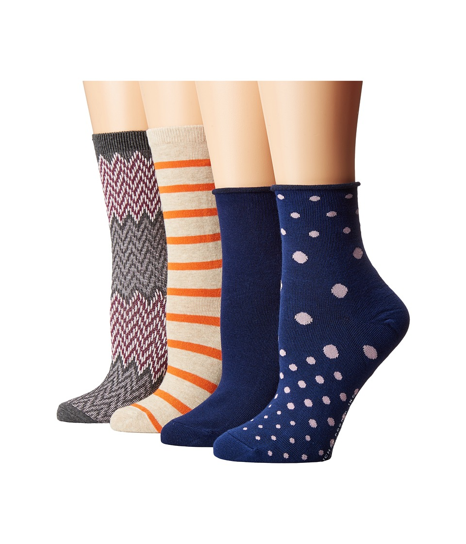 Richer Poorer - Mixed Assorted 4-Pack (Charcoal/Oatmeal/Navy) Women's Crew Cut Socks Shoes