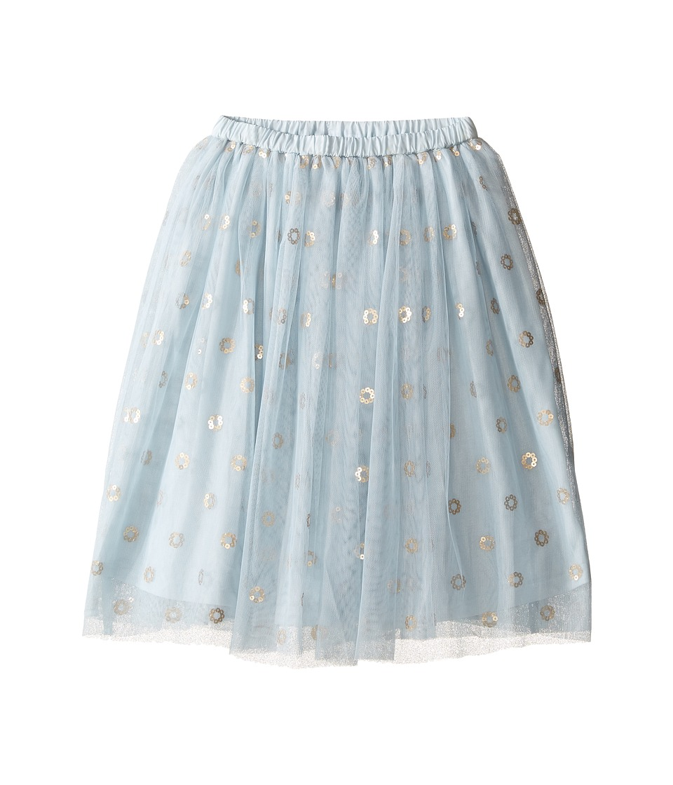 Kardashian Kids - Below Knee Mesh Sequin Skirt (Toddler/Little Kids) (Blue) Girl's Skirt