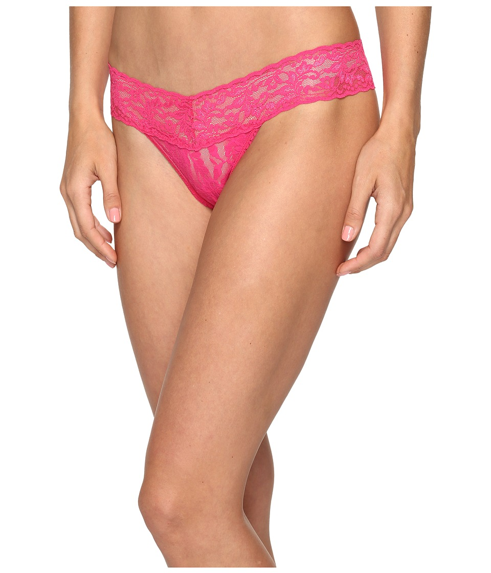 Hanky Panky - Petite Signature Lace Low Rise Thong (Tickled Pink) Women's Underwear