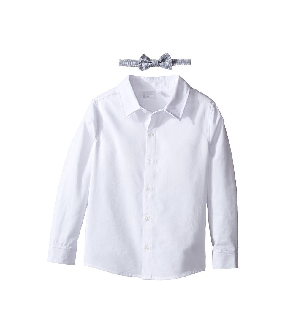 Kardashian Kids - Shirt with Removable Bow Tie (Toddler/Little Kids) (White) Boy's T Shirt